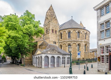View at the apse of Basilica Our Lady in Maastricht, Netherlands