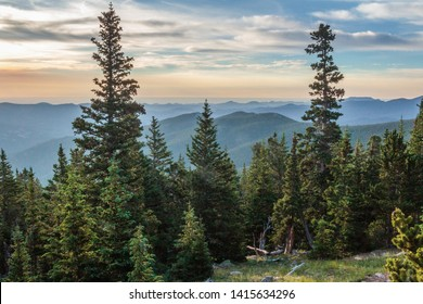 View of the Arapahoe National Forest from Mount Goliath in Colorado.