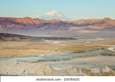 View of Ararat mountain in Turkey