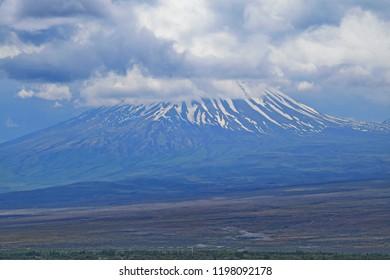 View of Ararat plain and Mount Sis (Lesser Ararat or Little Ararat), Armenia