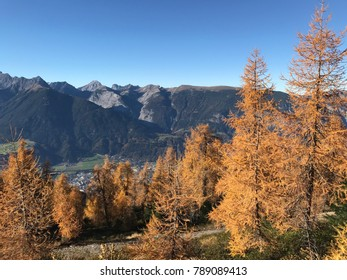 view from the Arbeser and the Kellerjoch down to the city of Schwaz Tyrol Austria