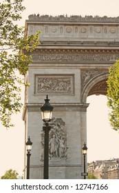 View of Arc de Triomphe, Paris