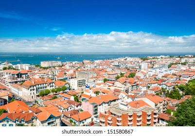View of Arcachon and Atlantic ocean, France