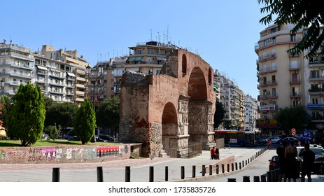 A view of the Arch Of Galerius / Thessaloniki, Greece / 30 August 2019