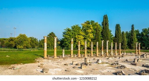 View of the archaeological area of Aquileia - Italy