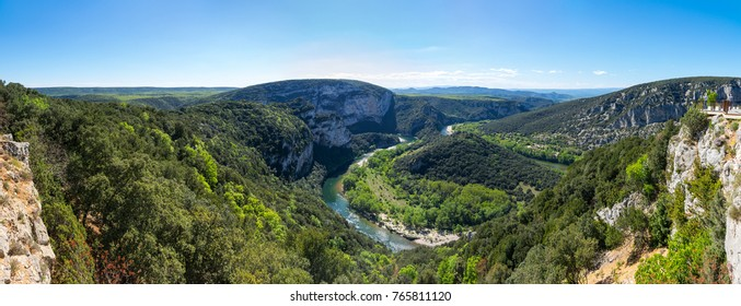 "View of Ardeche Gorges, locally known as the ""European Grand Canyon"", France"