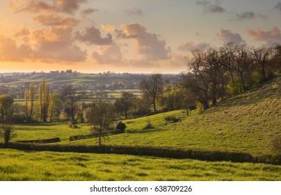 View from Ardens Grafton village, warwickshire, England