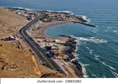 View of Arica beach from El Morro, Chile