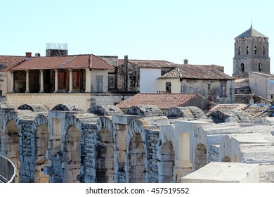 View of Arles from the amphitheater, France