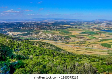 View of Armageddon Valley from Carmel mountain, Israel