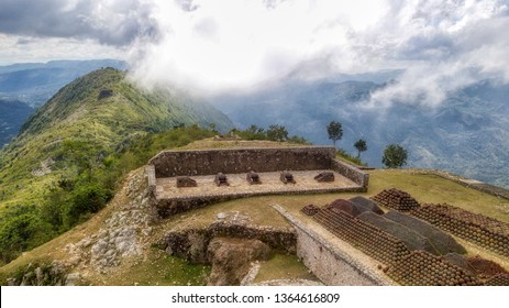 View of Armaments and Surrounding Mountains atop Citadelle Laferrière in Milot Haiti