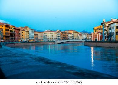 View of Arno river in Pisa