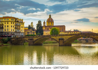 View of the Arno River from the seafront in Florence
