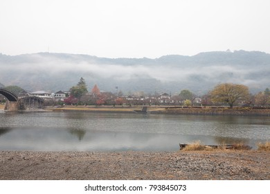View around Kintai Bridge (Kintai-kyo), the most distinguished landmark of Iwakuni, Japan.
