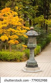 View around Zenkoji temple, autumn season, Nagano, Japan