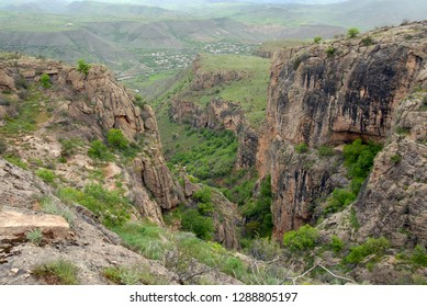 View at Arpa River Valley and Arpi village. Vayots Dzor Region, Armenia.
