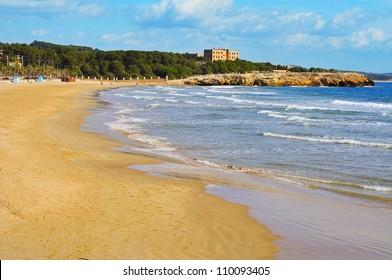 A view of Arrabassada Beach in Tarragona, Spain