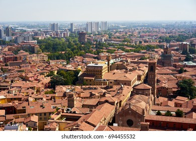View from Asinelli tower in Bologna, Emilia-Romagna, Italy