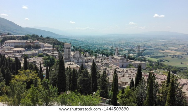 View of Assisi from the Rocca in the top of the city.