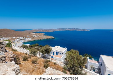 view from Astypalaia castle. chora. Greece.