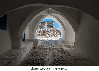 View of astypalaia's castle gate.  Astypalea is an aegean island of Greece