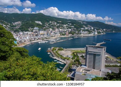 View of Atami city and Sagami Bay, Shizuoka, Japan.