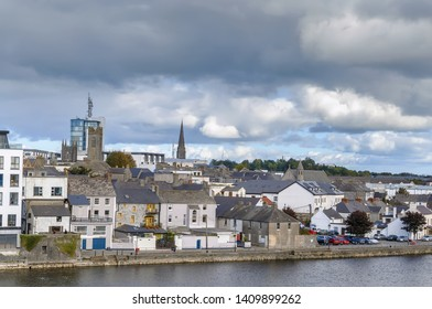 View of Athlone city from castle, County Westmeath, Ireland