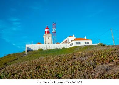 View of the Atlantic coast in Cabo da Roca (Cape Roca) in Western Portugal