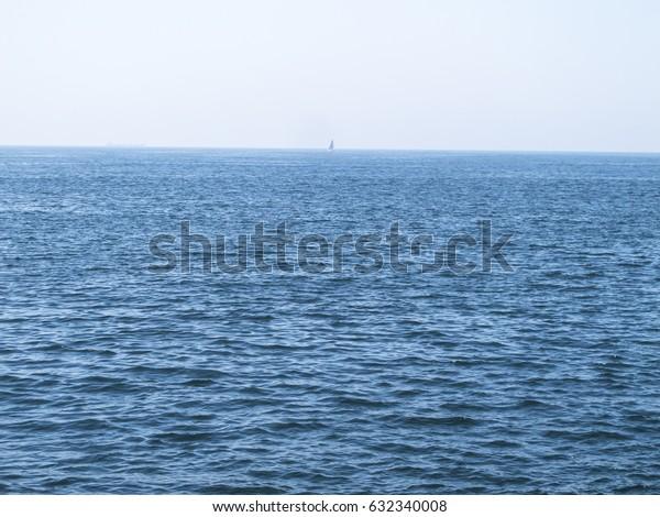 A view of Atlantic ocean from Matosinhos, Porto.