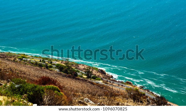View of the atlantic ocean from roadside stop