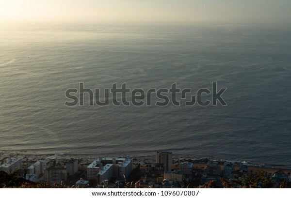 View of the atlantic ocean from Signal Hill. Western Cape, South Africa