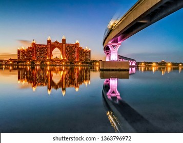 View of Atlantis the Palm Hotel from The Pointe by Nakheel. Dubai - UAE. 29 March 2019