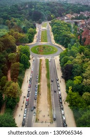 View from Atomium Bruxelles of a boulevard