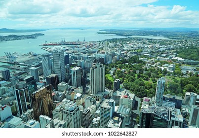 View at Auckland Bay - View from Sky Tower, Auckland, New Zealand