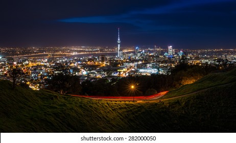 View of Auckland City from Mt Eden Summit