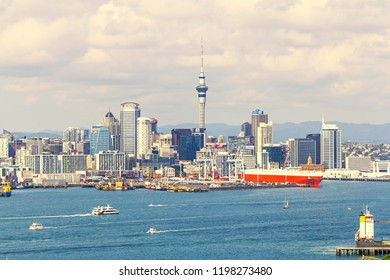 View to Auckland City from Mt Victoria Devonport New Zealand