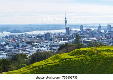 View to Auckland City New Zealand from Mt Eden