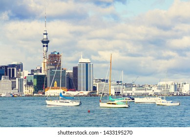 View to Auckland City from Stanley Point Bay Devonport Auckland, New Zealand