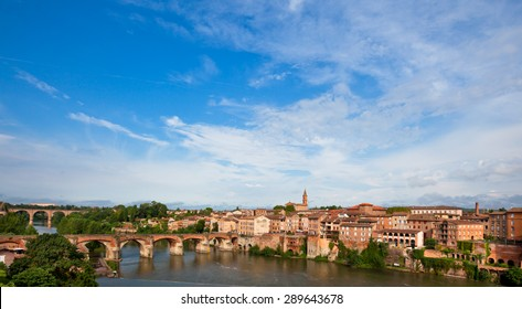 View of the August bridge in Albi, France. Horizontal shot