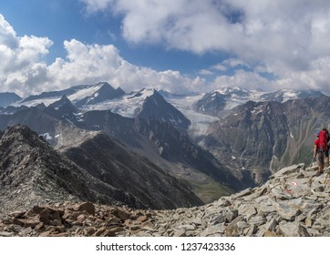 The view of Austrian Alps glaicers