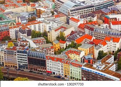 View of autumn Berlin from an observation deck