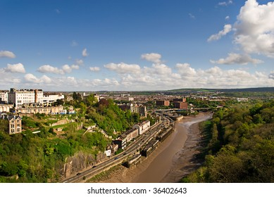View of the Avon Gorge in Bristol UK