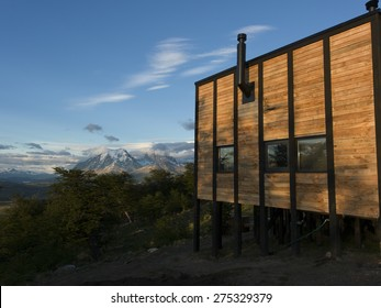 View of Awasi Lodge, Torres del Paine National Park, Patagonia, Chile