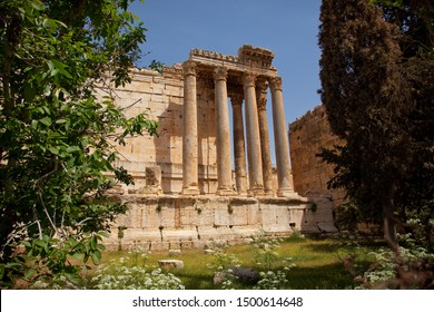 View of Baalbek, the ancient Heliopolis, famous for the ruins of an important Roman city - Lebanon