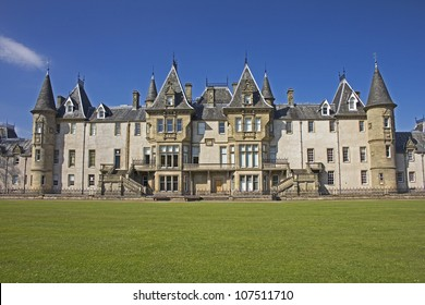 View of the back of Callendar House in Callendar Park, Falkirk, Central Scotland, UK.