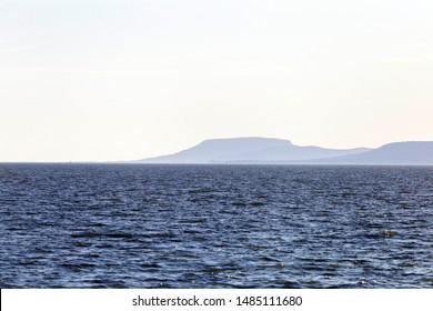 View of Badacsony from the lake Balaton.