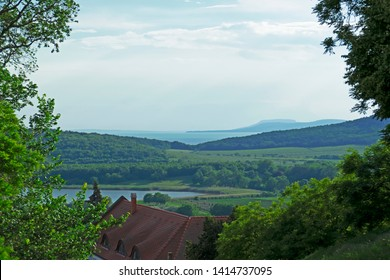 View of Badacsony and Lake Balaton from Tihany