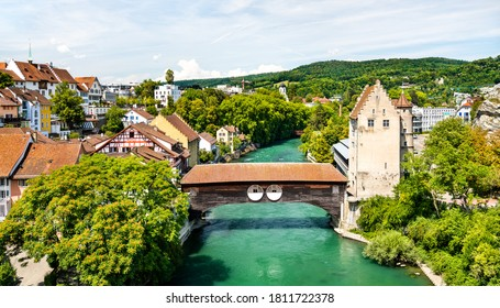 View of Baden, a town in Aargau, Switzerland