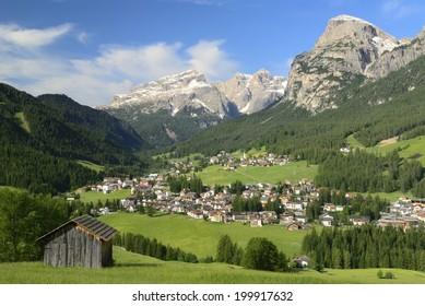 View of the Badia, Dolomites, Italy
