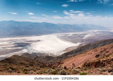 View of Badwater basin  from Dante's view point, Death Valley National Park, California, USA.